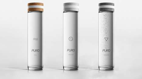 Landscape-Inspired Water Bottles - The 'Puro' Water Bottles are Inspired by Nature