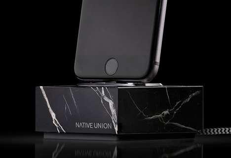 Solid Marble Smartphone Docks