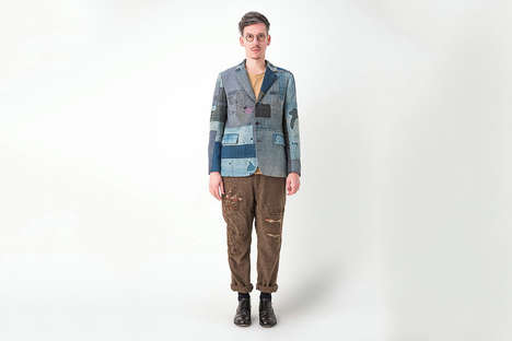 Eclectic Patchwork Menswear - KUON's Second Collection Boasts Distressed & Sophisticated Styles