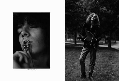 Retro Teen Lookbooks - Jacek Szopik Lensed This Black and White Editorial for F*cking Young!