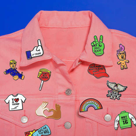 Political Protest Pins - Sagmeister & Walsh Created a Line of Anti-Donald Trumps to Combat His Views