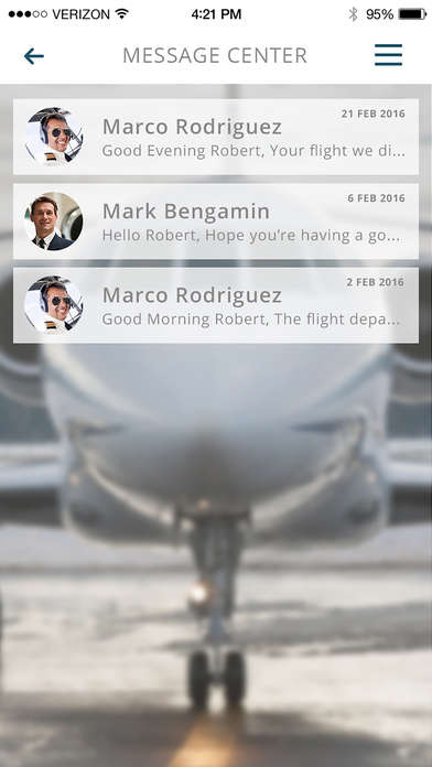 Connective Charter Flight Apps