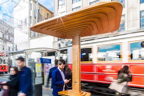 Phone-Charging Bus Stops