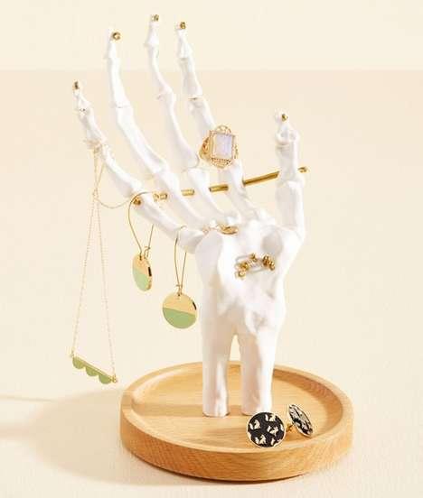 Ornate Skeletal Jewelry Stands