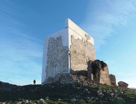 Preserved Rubble Castles - The Fallen Matrera Castle Has Been Fused with Contemporary Architecture