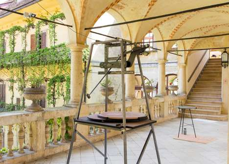 Pendulum-Carved Tabletops