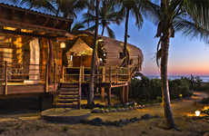 Cylindrical Bamboo Huts - The Treehouse Suite is an Idyllic Beach Resort in Mexico