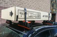 Compact Cargo Car Racks - The 'Stowaway' Car Roof Rack Stores in the Glovebox When Not in Use