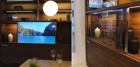 Crystal-Clear OLED TVs - The Panasonic OLED Transparent TV Disappears When Not in Use