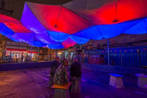 Inflatable Canvas Pavilion Covers