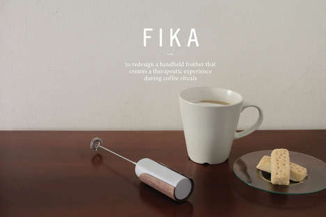 Cappuccino-Perfecting Frothers - The 'Fika' Electric Milk Frother Streamlines Custom Coffee Creation