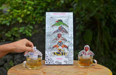 Relaxing Animal Tea Bags - The Sikkim's 'Tea Spa' Bags of Tea Feature Animals Taking a Dip