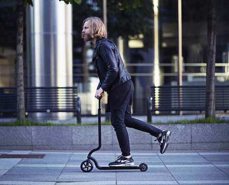 Streamlined Folding Analog Scooters