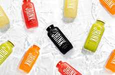 Ingredient-Focused Juice Packaging - JRINK Juicery Cold-Pressed Fresh Juices are Minimally Branded