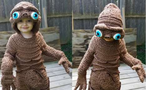 Complex Crocheted Costumes - This Convincing ET Costume Was Custom-Knitted in Just Four Days