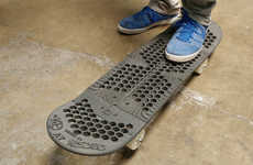 3D-Printed Skateboards - SD3D Created a Fully Functional Skateboard with Additive Manufacturing