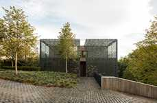 Tiled Camouflage Houses - The TR House Provides Privacy with Strategically Placed Tiles