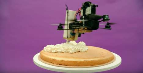 Cake-Creating Drone Commercials - This Telia Ad Celebrates Its Mobile Network with a Band of Drones