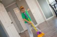 Sound System Microphone Brooms - The 'Sweep N Sing' Sweeping Broom Makes Cleaning More Fun for Kids