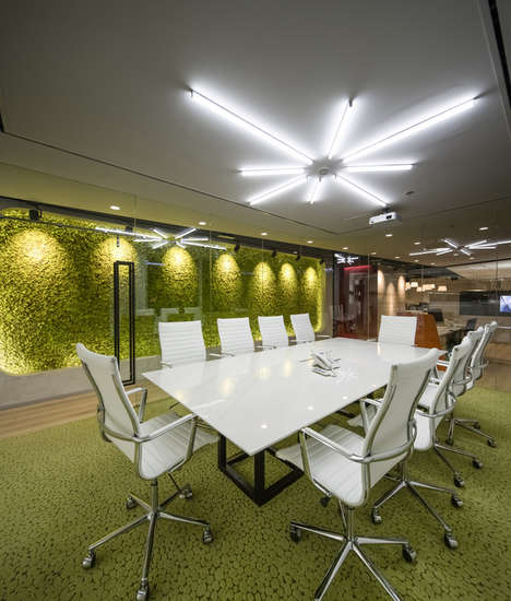 Outdoorsy Office Spaces - This Office Has a Professional Environment with Natural Elements