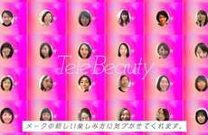 Telecommuting Makeup Apps - Shiseido's 'TeleBeauty' App Applies Virtual Makeup for Online Meetings