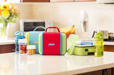 Contemporary Lunch Carriers - The Lunch Buddy by Nalgene is a Chic and Efficient Kids Lunch Box