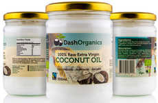 Raw Sustainable Coconut Oils - The Dash Organics Raw Extra Virgin Coconut Oil is Organic and Vegan