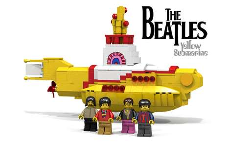 Pop Band LEGO Models - LEGO's 'Beatles Yellow Submarine' Features Figures of the Fab Four