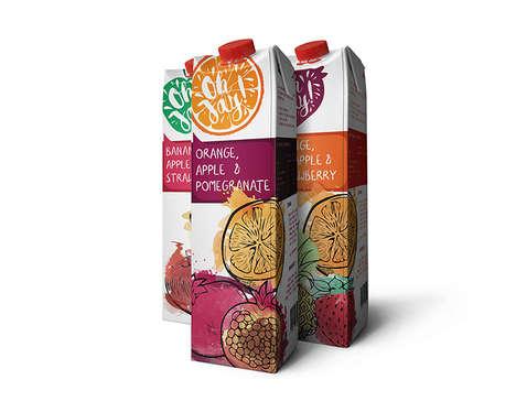 Watercolor Juice Packaging