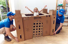 Play-Inspiring Moving Boxes - AnyVan's Cardboard Moving Boxes Transform into Castles and Forts