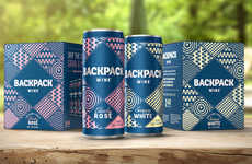 Millennial-Targeting Wine Cans - These Canned Wines Have a Carefree Brand Identity