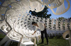 Lawn Chair Sculptures - CODA Designed a Lawn Chair Pavilion for the Arts Quad at Cornell University