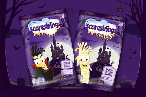 Halloween-Themed Cheese Snacks