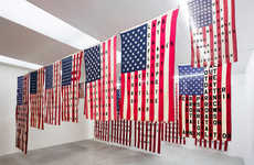 Political Art Exhibitions - Cali Thornhill Dewitt's '29 Flags' References Contemporary US History