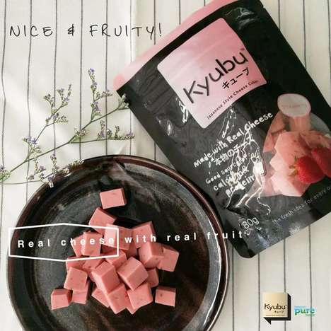 Fruity Cheese Cubes - Kyubu Combines Snack Cubes That Blend the Taste of Fruit and Cheese