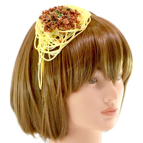 Food Fight Fascinators - These Faux Food Hair Bands Bring a Mess of Meal to One's Hairstyle