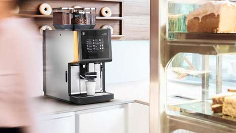 Automated Kitchen Coffee Makers - The WMF 5000 S Automatic Coffee Machines Provide Perfect Java