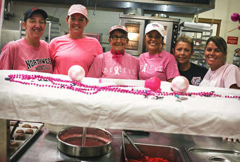 Pink Pasta Promotions - This School is Serving Up Pink Pasta for Breast Cancer Awareness Month