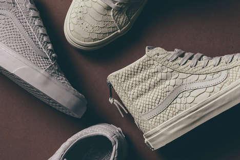 Monochrome Snakeskin Sneakers