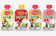 Disney-Branded Juice Pouches - The Del Monte Squeezies Fruit Juice Pouches Provide Nutrition Support
