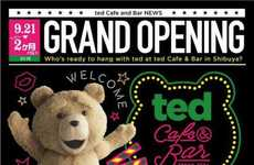 Cinematic Teddy Bear Cafes - Japan's 'Ted'-Themed Cafe is Based on the Film's Foul-Mouthed Bear