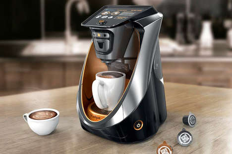 The 'Kallpa' Capsule Coffee Maker Allows for Personalization