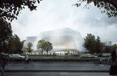 Translucent Orchestral Halls - The China Philharmonic Hall Will Be in Beijing's Business District