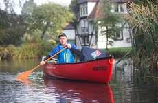 Pizza Delivery Canoes - Domino's is Now Delivering Food by Canoe in Kent, England