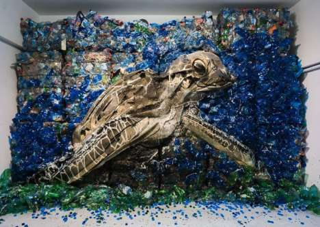 Trash-Made Animal Art - Bordalo II's Immaculate Wildlife Sculptures are Made from Junkyard Scraps