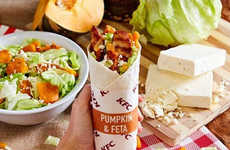 Autumnal Pumpkin Wraps - KFC Australia is Celebrating Fall with Its New Pumpkin & Feta Twister