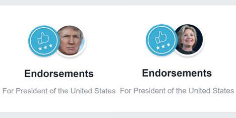 Social Media Political Endorsements