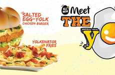 Salty Egg-Based Burgers - Wendy's Malaysia is Using Salted Egg Yolks in Its New Burger