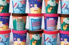 Story-Telling Ice Creams - This Vibrant Ice Cream Branding Reveals Stories in the Form of Images