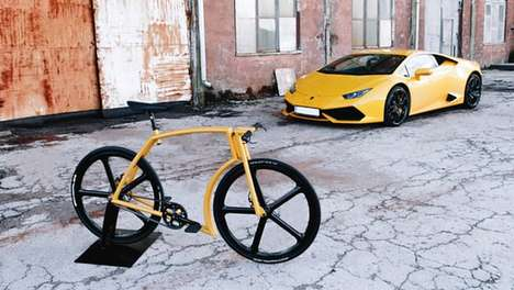 Supercar-Inspired Bikes - This Aluminum Alloy Bike is Inspired By Lamborghini Designs